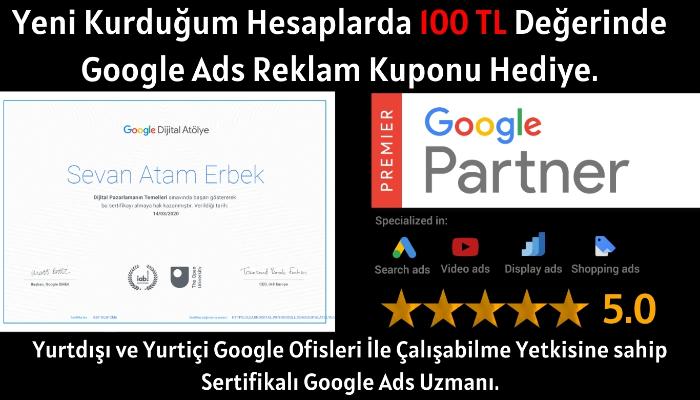 Google Ads Reklam Kurulumu Ve Yönetimi. Sertifikalı Kıdemli Uzman