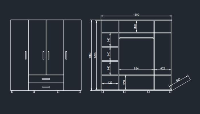 Mobilyalarınıza kesim listesi ve imalat teknik çizimini yapıyorum