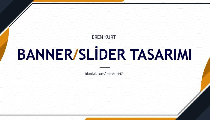 Ben, profesyonel banner, slider, sosyal medya tasarımı yaparım