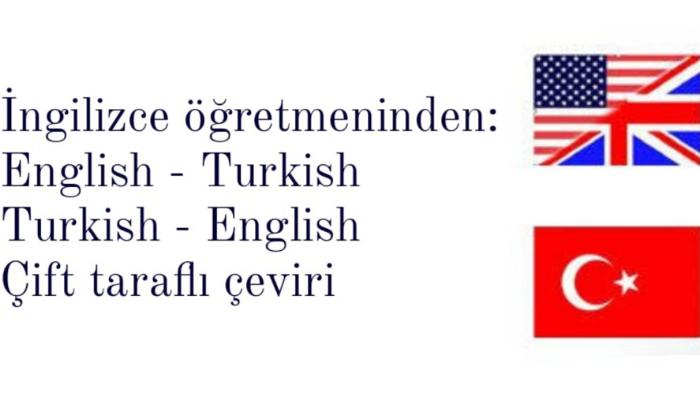 İngilizce Öğretmeninden Çift Taraflı Çeviri