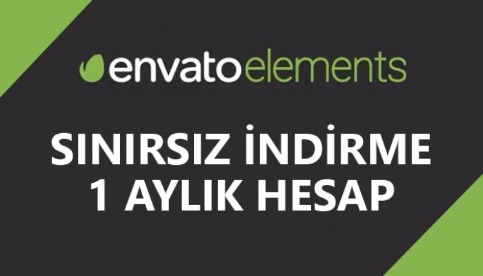 1 Aylık Envato Elements Hesabı