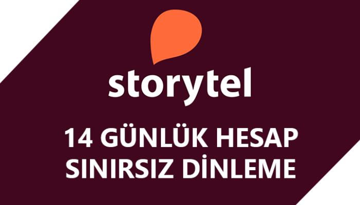 14 günlük Storytel hesabı sağlayabilirim