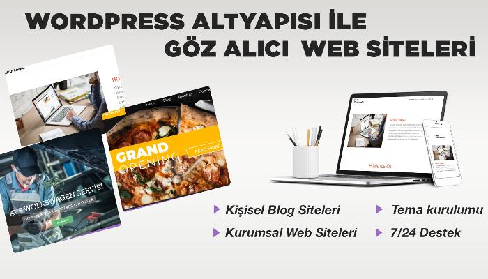 Ben, kurumsal ve blog web siteleri hazırlarım