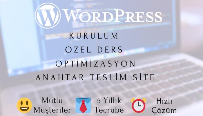 Ben, Wordpress işlerinizi yaparım.