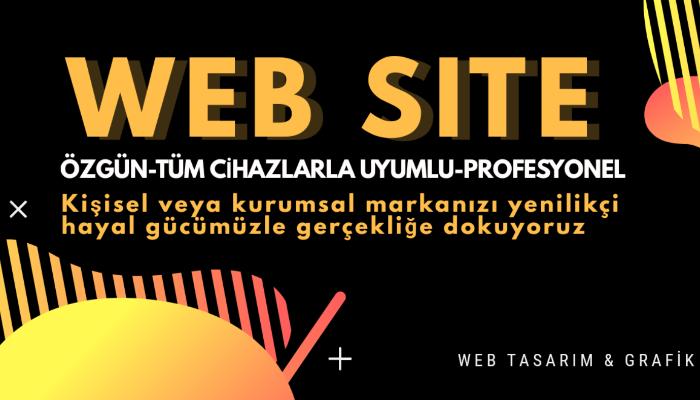 Profesyonel web sitesi Tasarlarım Anahtar Teslimi İş website